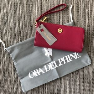 NWT Ora Delphine Wallet Wristlet in Rose